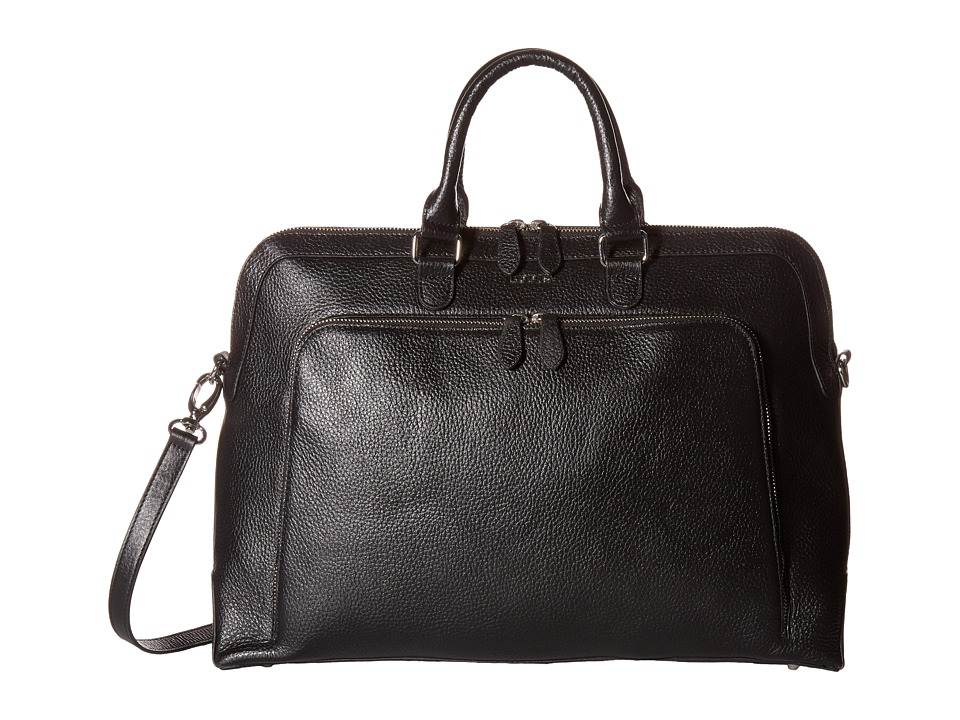Lodis Accessories - Haven Brera Briefcase w/ Laptop Pocket (Black) Briefcase Bags