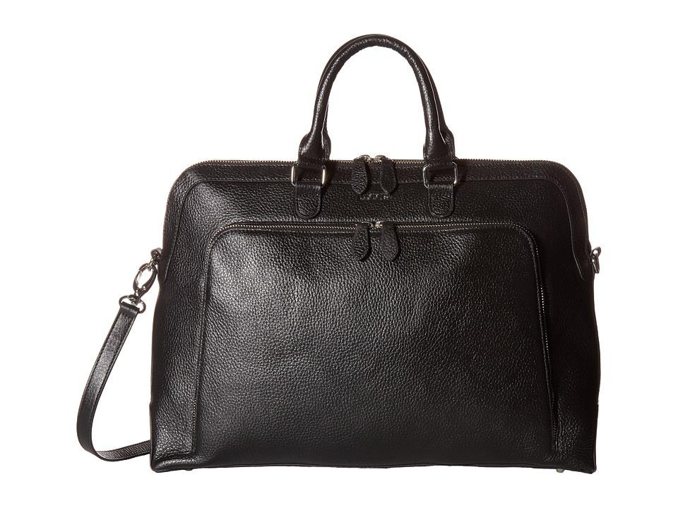 Lodis Accessories - Haven Brera Briefcase w/ Laptop Pocket (Black) Briefcase Bags