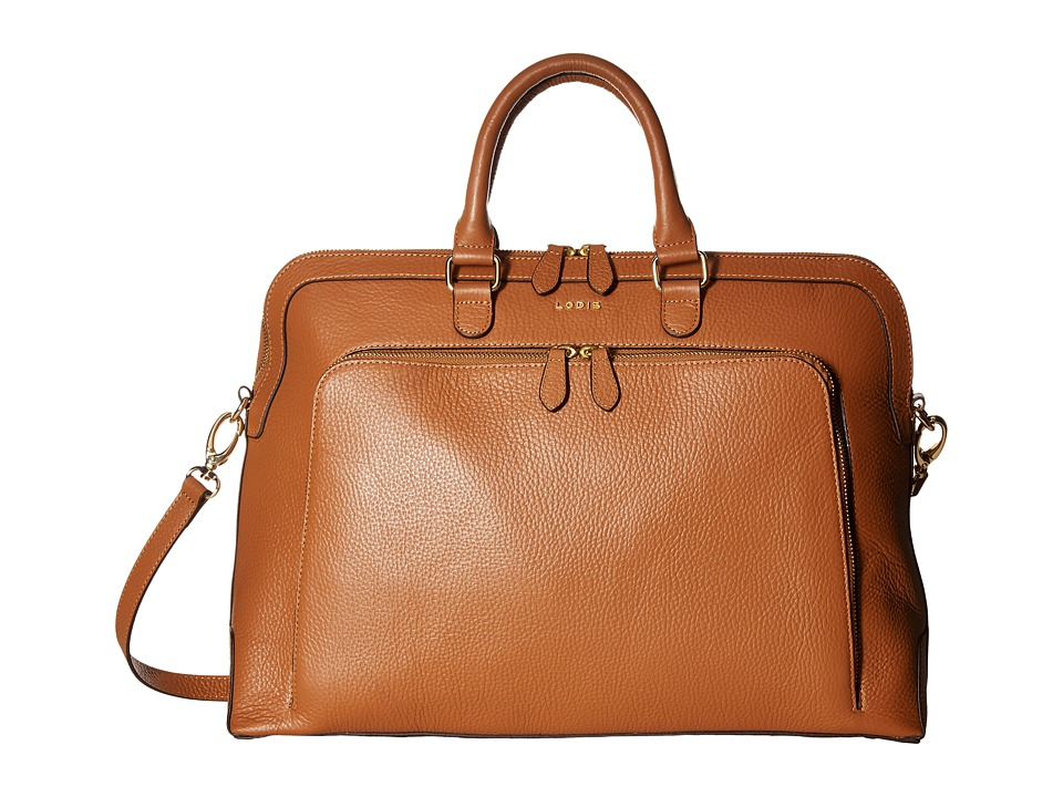 Lodis Accessories - Haven Brera Briefcase w/ Laptop Pocket (Toffee) Briefcase Bags