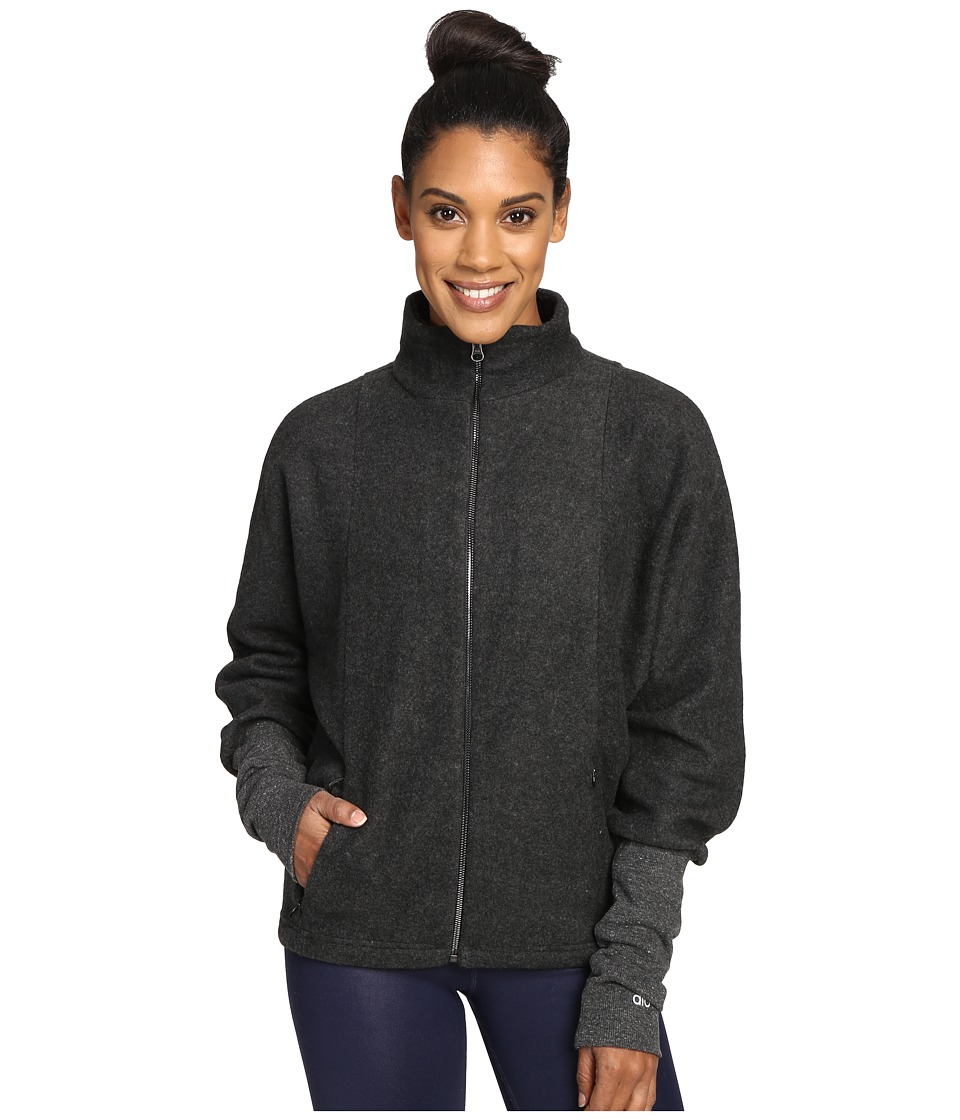 ALO - Dream Jacket (Charcoal Heather/Black) Women's Coat