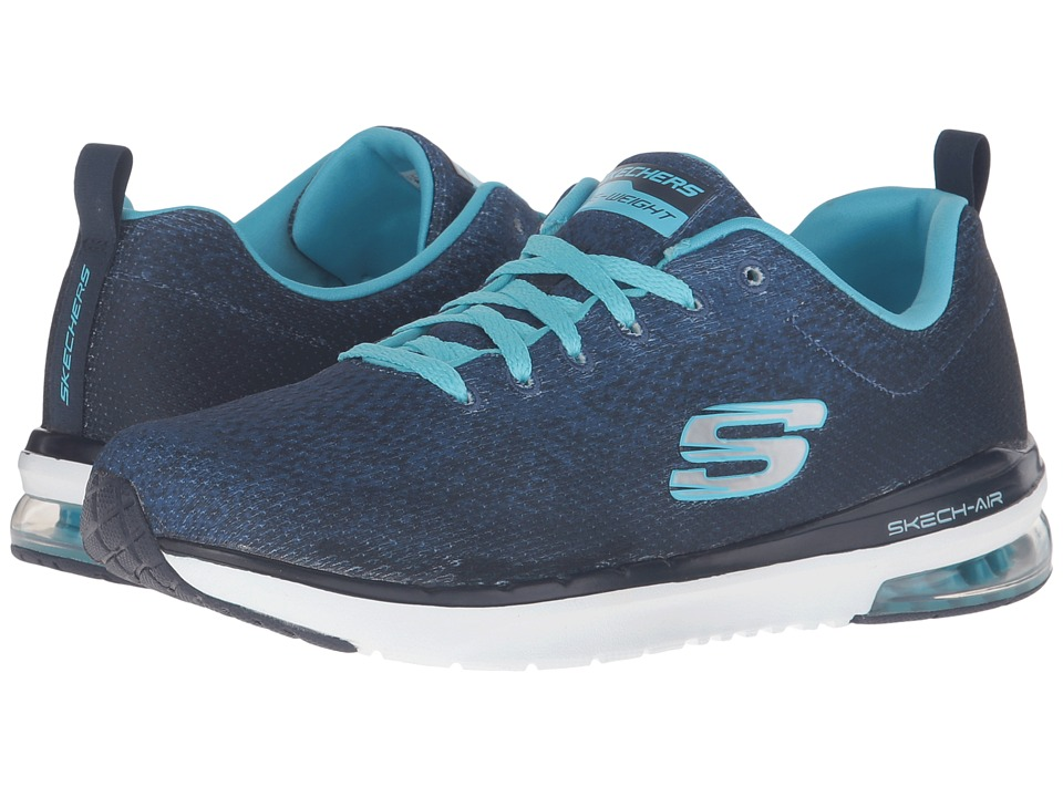 SKECHERS - Skech-Air Infinity - Modern Chic (Navy/Light Blue) Women's Lace up casual Shoes