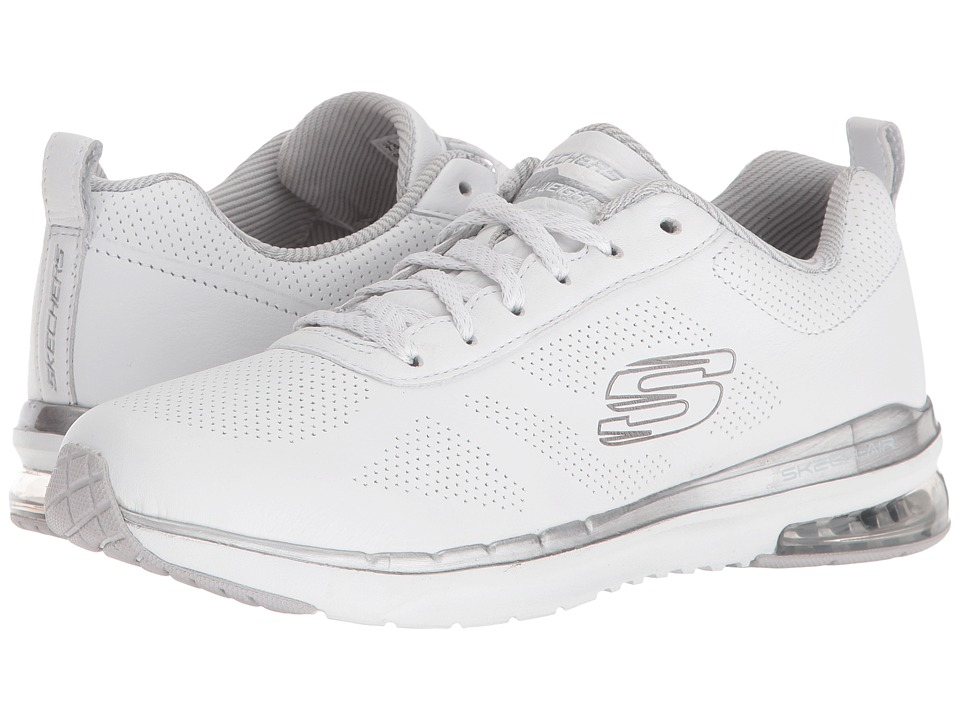 SKECHERS - Skech-Air Infinity - Ozones (White/Silver) Women's Lace up casual Shoes