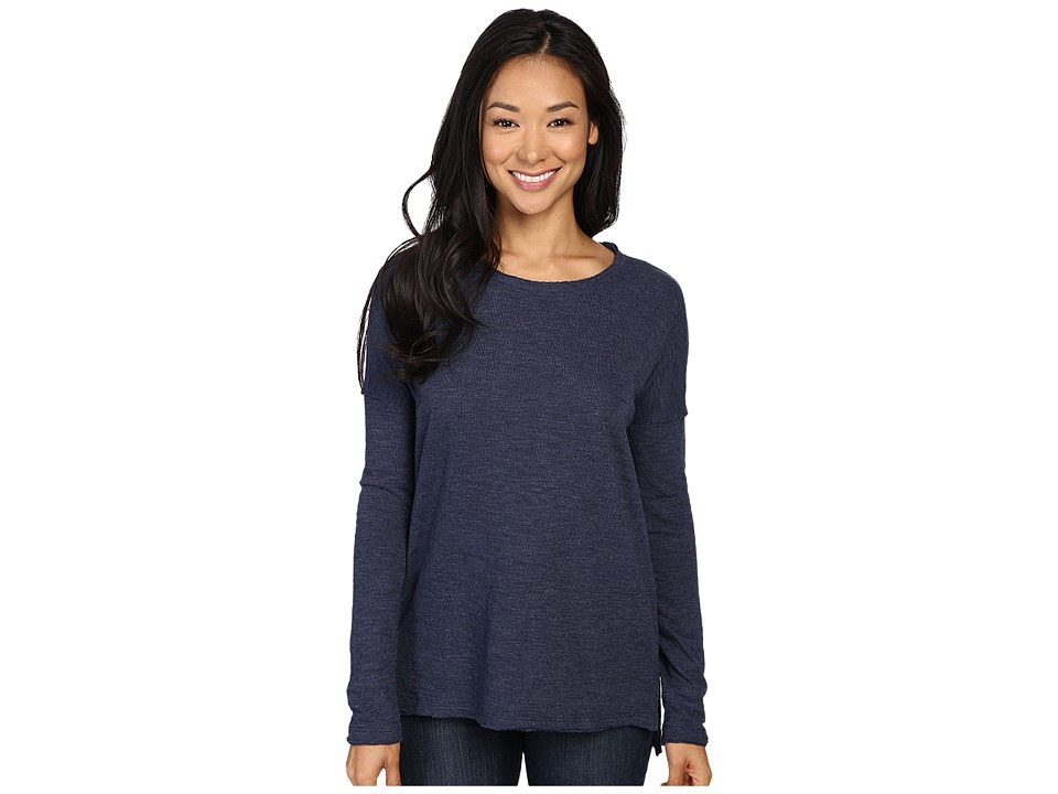 Dylan by True Grit - Bonded Soft Slub and Soft Knit Drop Shoulder Seam Tee (Real Blue) Women's T Shirt