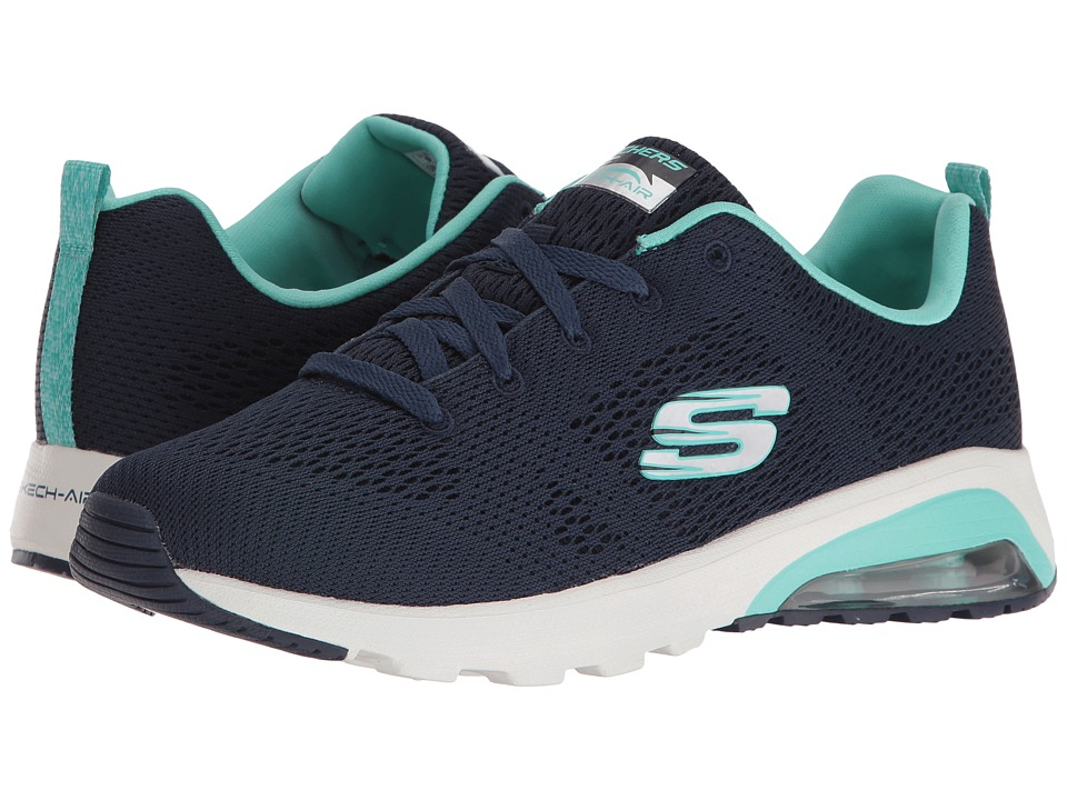 SKECHERS - Skech-Air Extreme - Evolver (Navy/Turquoise) Women's Lace up casual Shoes