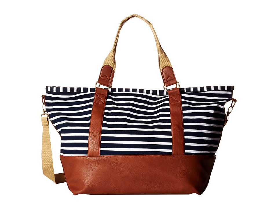 Madden Girl - Mgtrvlrr Overnighter (Navy/White Jersey Stripe) Handbags