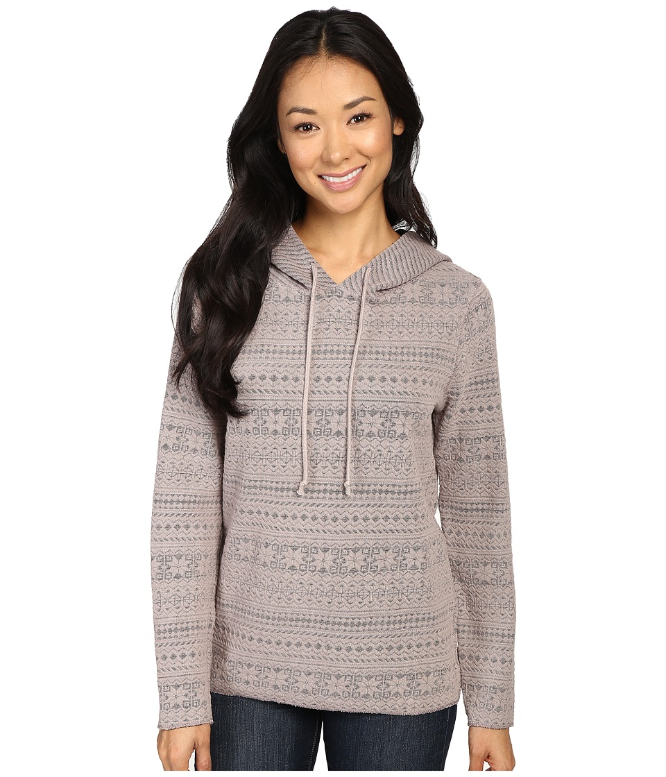 Dylan by True Grit - Pastel Multi Textures Alps Hoodie (Heather) Women's Sweatshirt