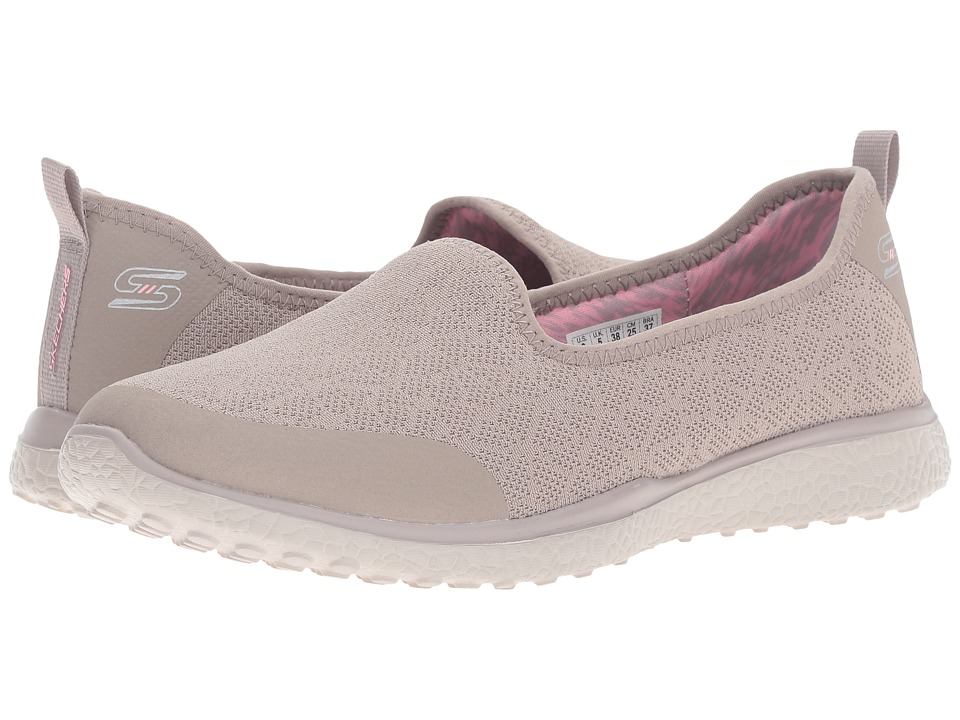 SKECHERS - Microburst - It's-My-Life (Taupe) Women's Slip on Shoes