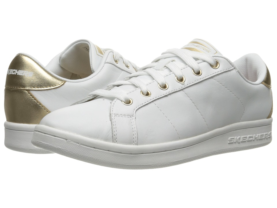 SKECHERS - Onix - Kort Classix (White/Gold) Women's Lace up casual Shoes