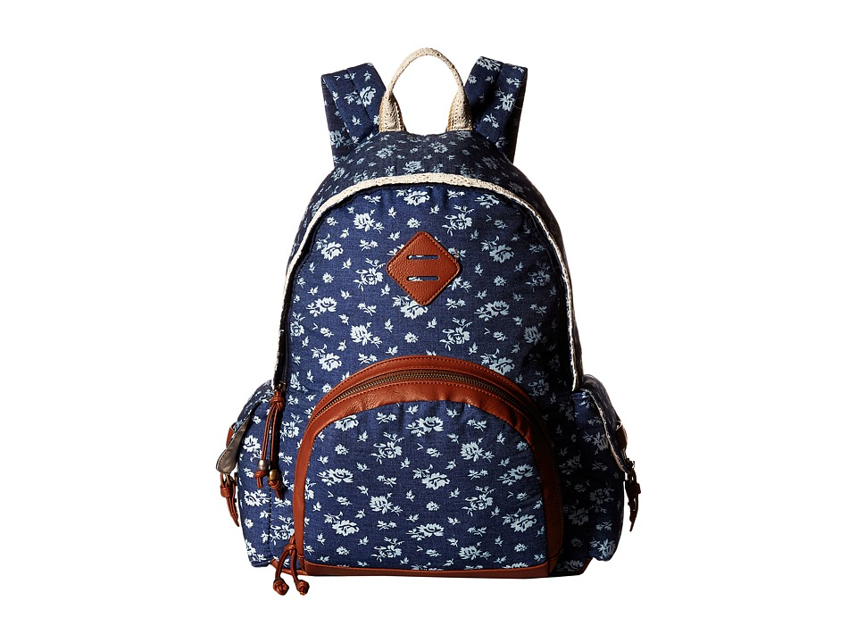 Madden Girl - Brecede Backpack (Denim Floral) Backpack Bags