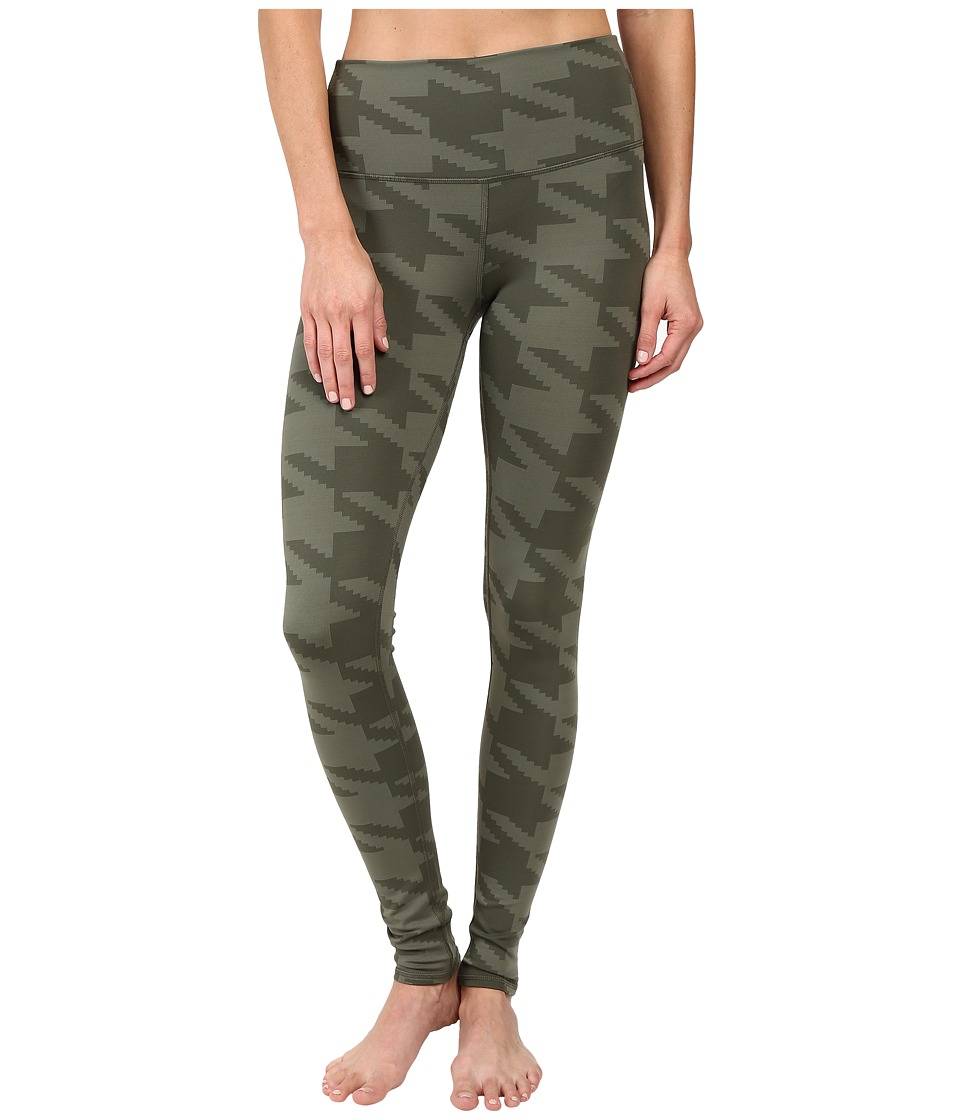 ALO - High Waisted Airbrush Leggings (Jungle Houndstooth) Women's Casual Pants