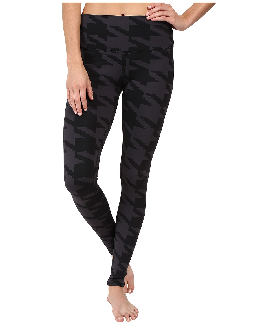 ALO - High Waisted Airbrush Leggings (Black Houndstooth) Women's Casual Pants