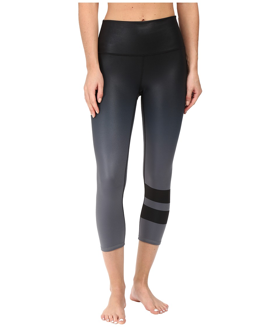 ALO - High-Waist Airbrush Capris (Gradient Black) Women's Capri