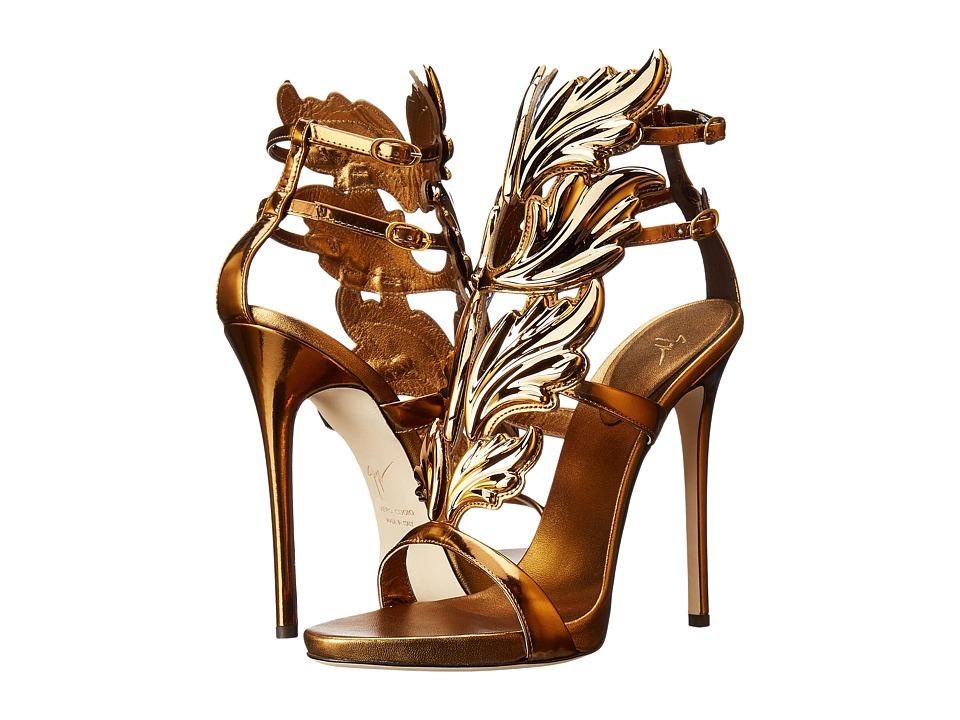 Giuseppe Zanotti Patent Winged Sandal (Bronze) Women