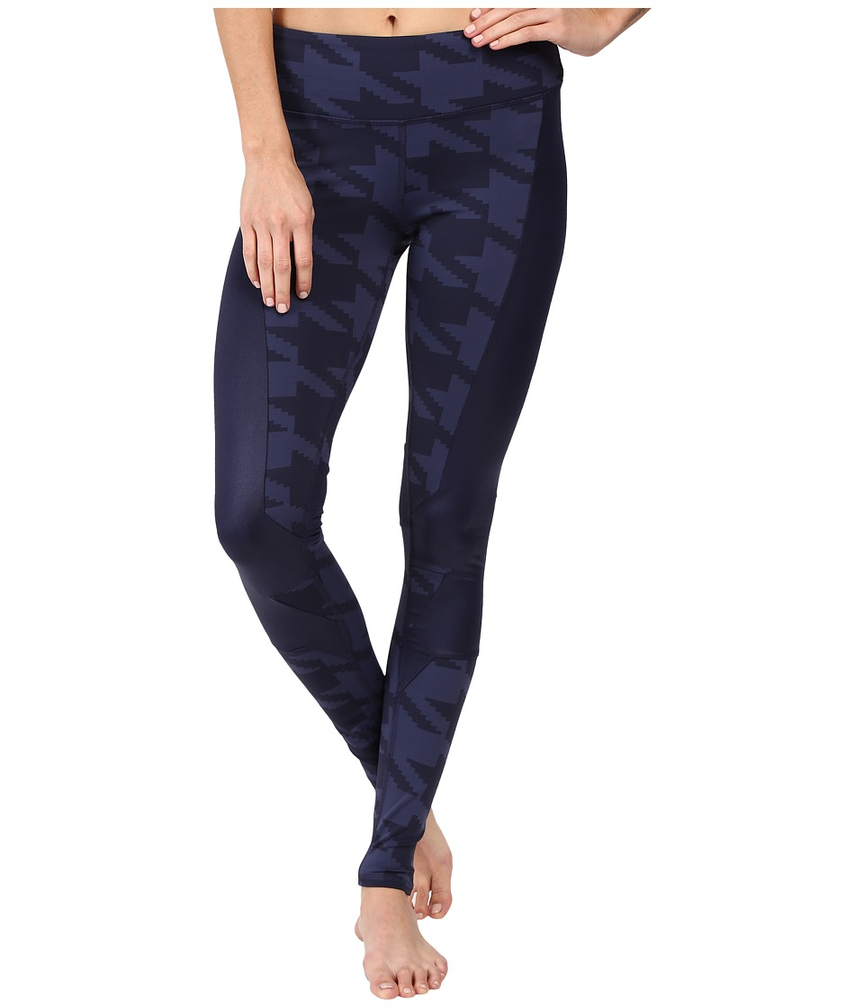 ALO - Accelerate Leggings (Rich Navy Houndstooth/Rich Navy Glossy) Women's Casual Pants