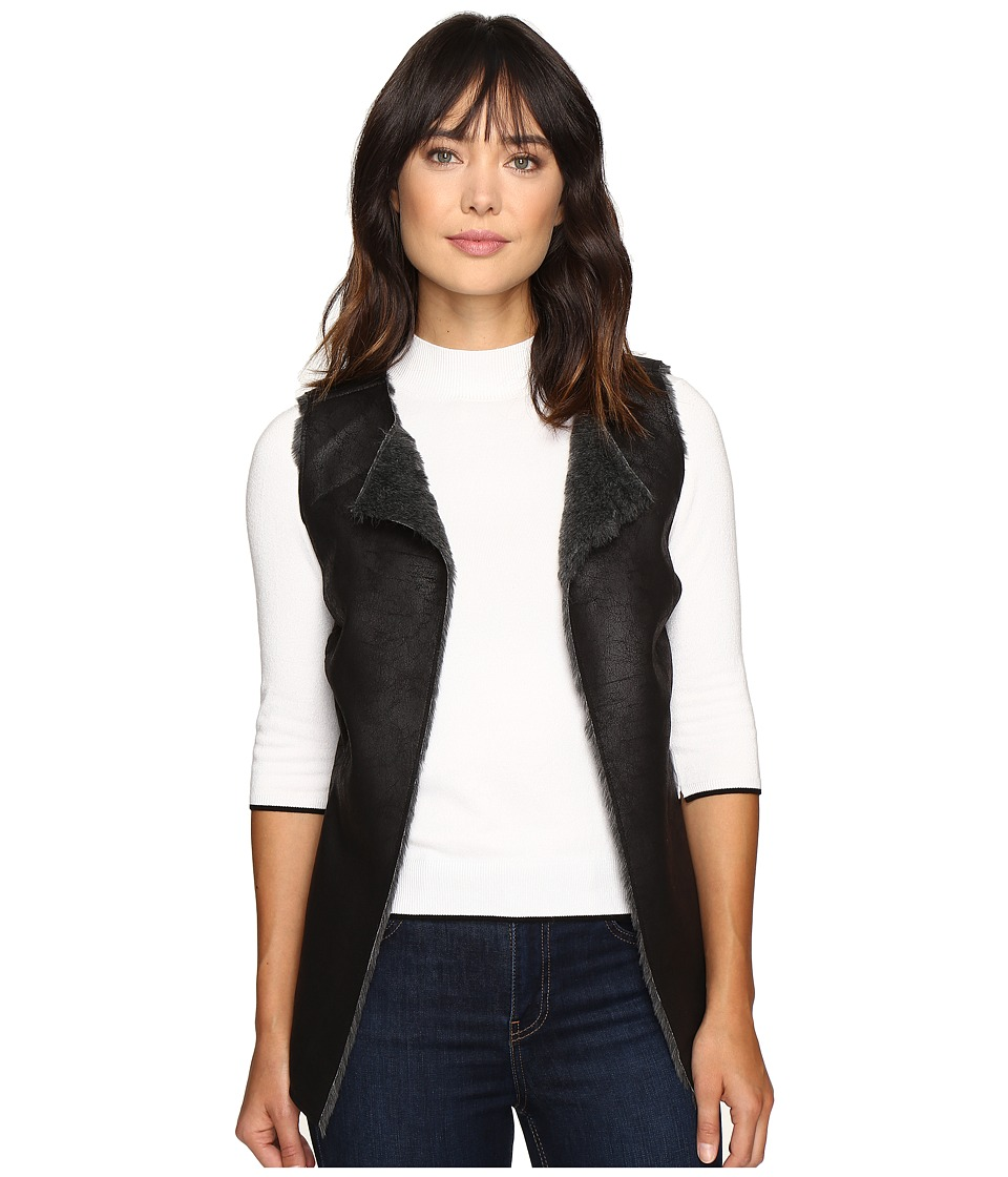Dylan by True Grit - Easy Rider Vintage Faux Leather Reversible Vest (Vintage Black) Women's Vest