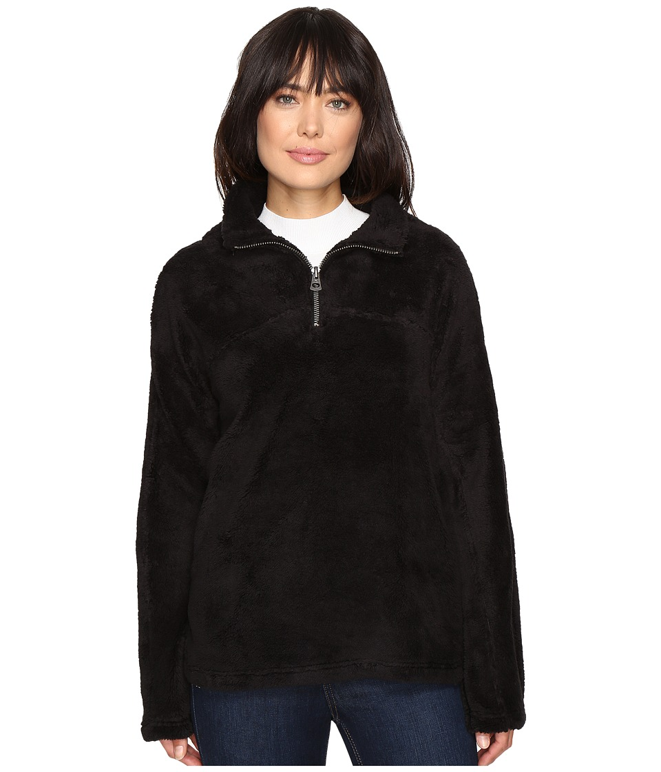 Dylan by True Grit - Plush Pebble Pile Stadium Pullover Top w/ Side Seam Pockets (Black) Women's Clothing