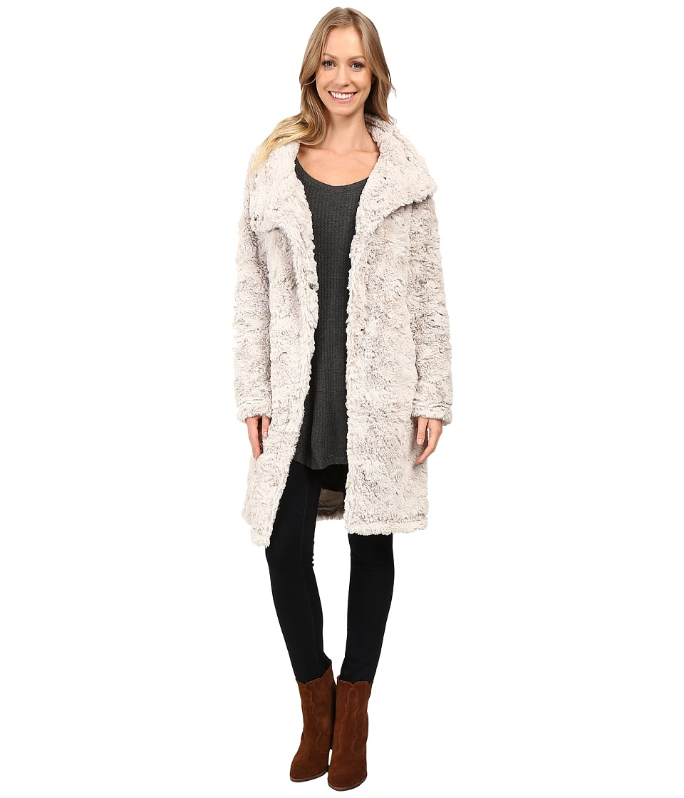 Dylan by True Grit - Plush Faux Classic Silky Fur Long Snap Jacket (Winter White) Women's Coat