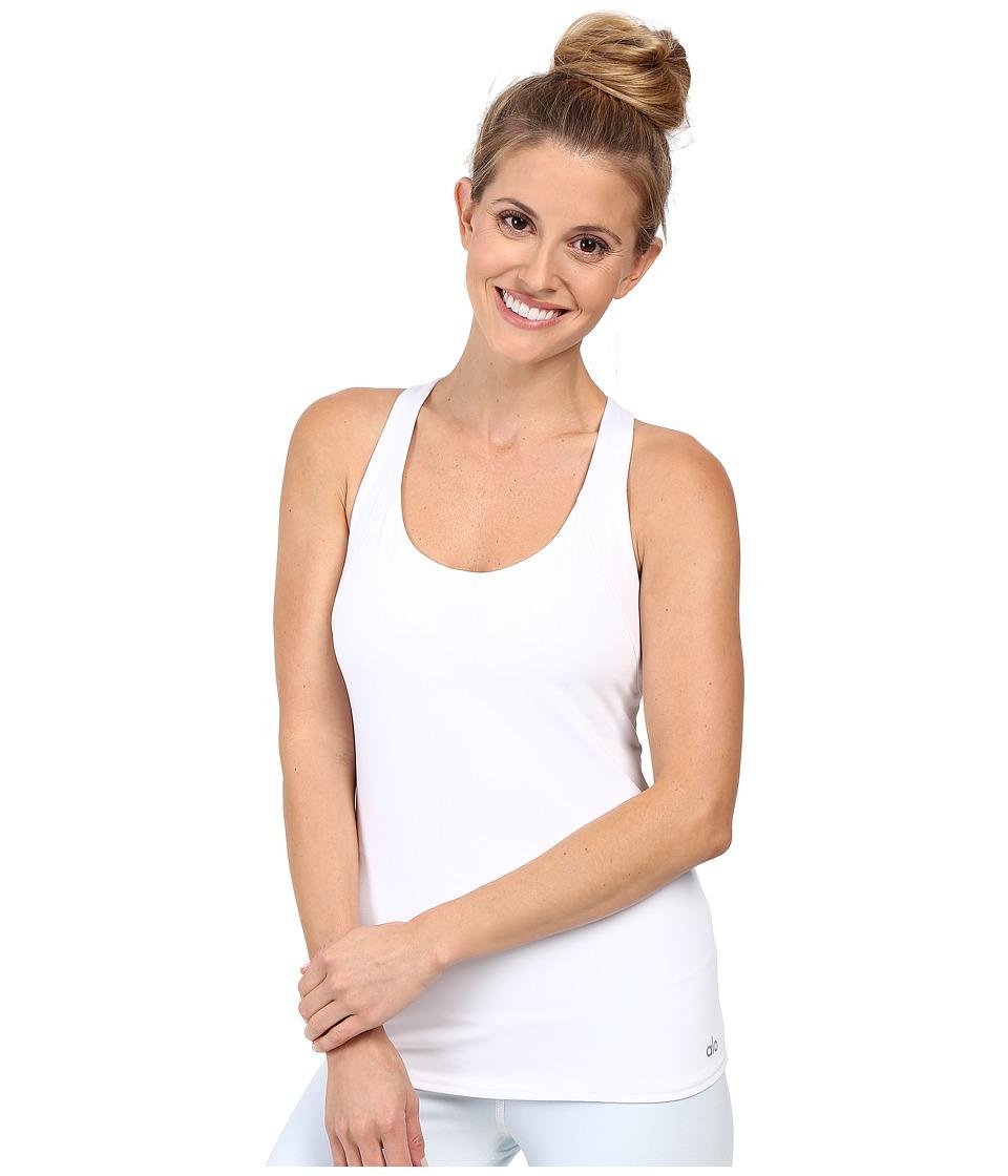 ALO - Glance Bra Tank Top (White) Women's Bra