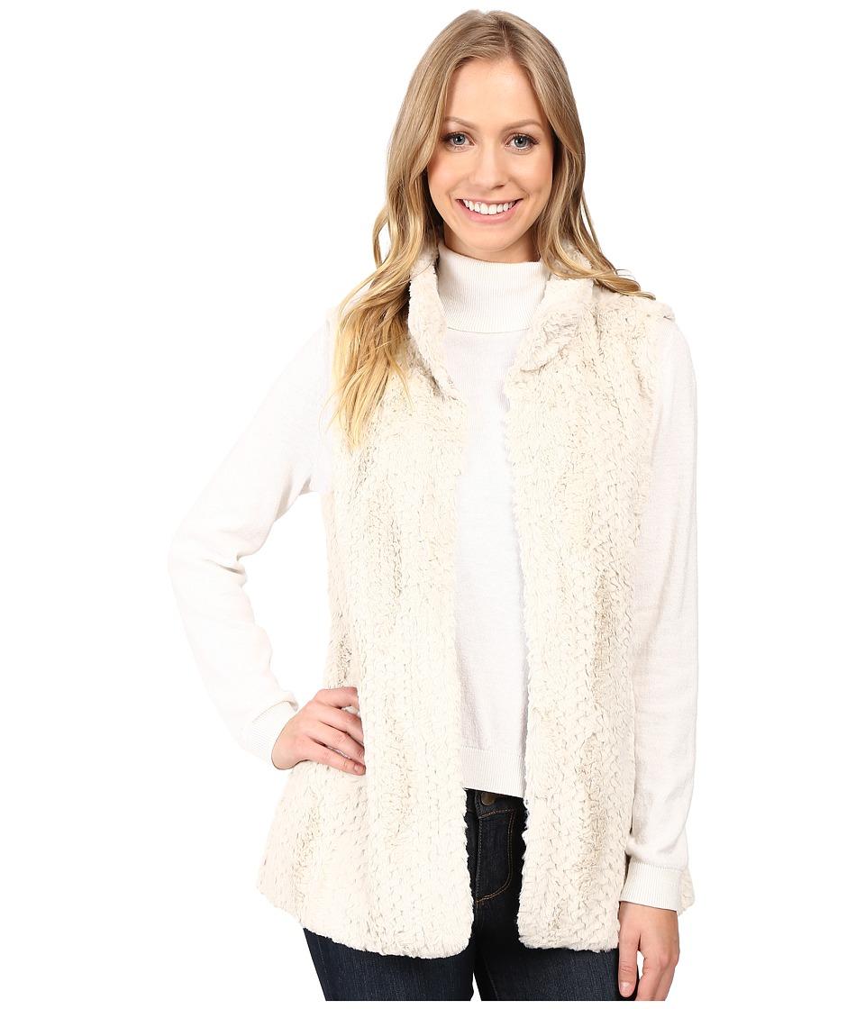 Dylan by True Grit - Plush Faux Chalk Textured Fur Hook Vest w/ Pockets (Chalk) Women's Vest