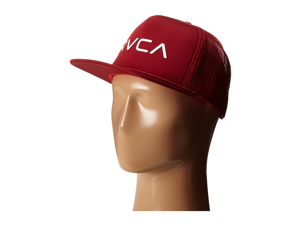 RVCA - Foamy Trucker (Dark Red) Caps