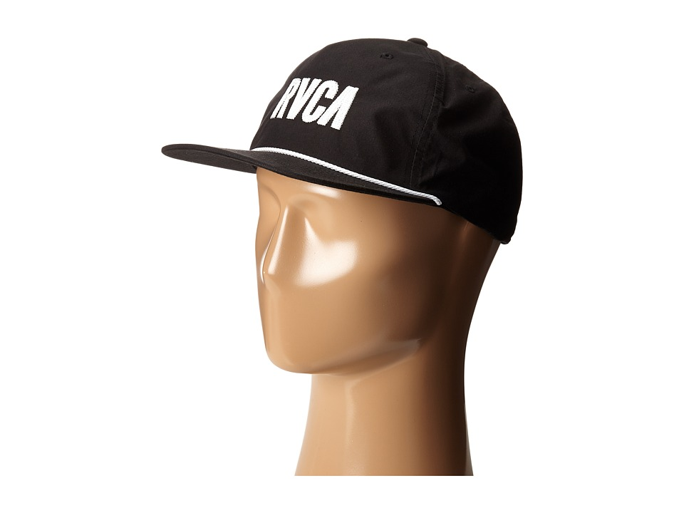 RVCA - Jagged Five Panel Hat (Black) Caps