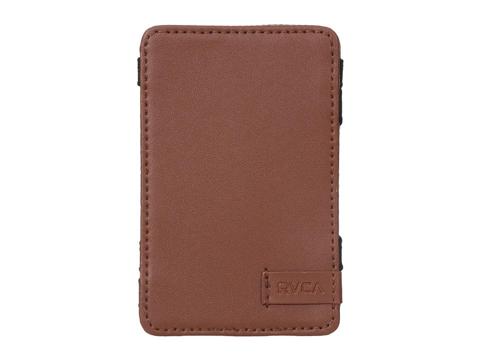 RVCA - Magic Wallet Twill (Dark Khaki) Wallet Handbags