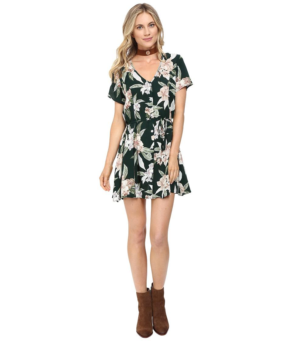 Show Me Your Mumu - Bennett Babydoll Dress (Forest Florist Cloud) Women's Dress