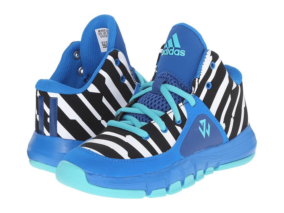 adidas Kids - J Wall 2 (Little Kid) (Shock Blue/Vivid Mint/EQT Blue) Kids Shoes