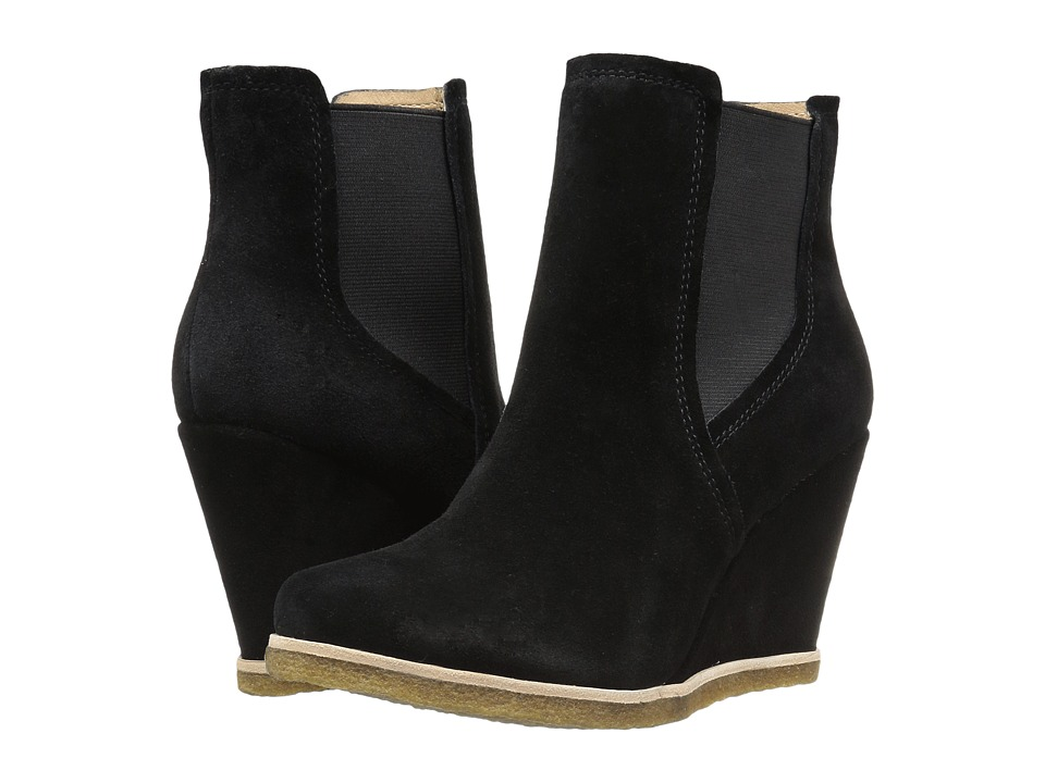 Splendid - Tara (Black Suede) Women's Wedge Shoes