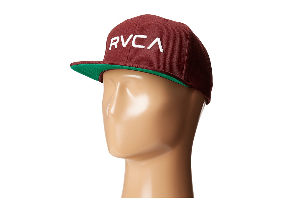 RVCA - Twill Snapback (White Wine) Baseball Caps