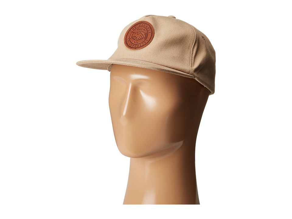 RVCA - Shakes Five Panel Hat (Khaki) Baseball Caps