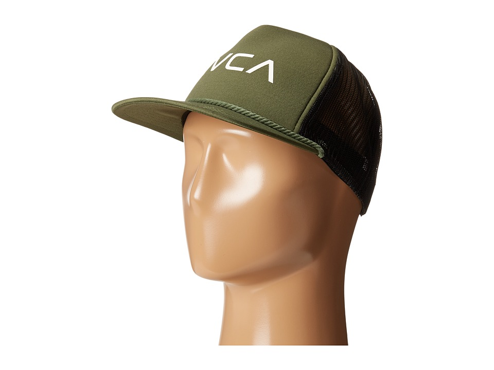 RVCA - Foamy Trucker (Olive) Caps