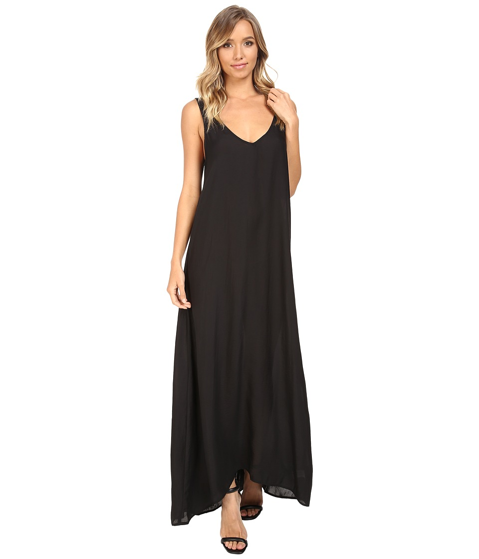 Show Me Your Mumu - Kiersten Maxi Dress (Black Silky Satin) Women's Dress