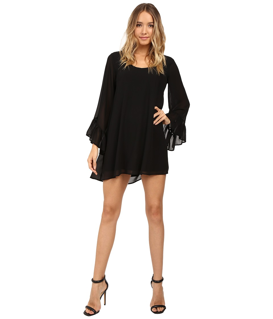 Show Me Your Mumu - Boomerang Low Back Dress (Black Chiffon) Women's Dress