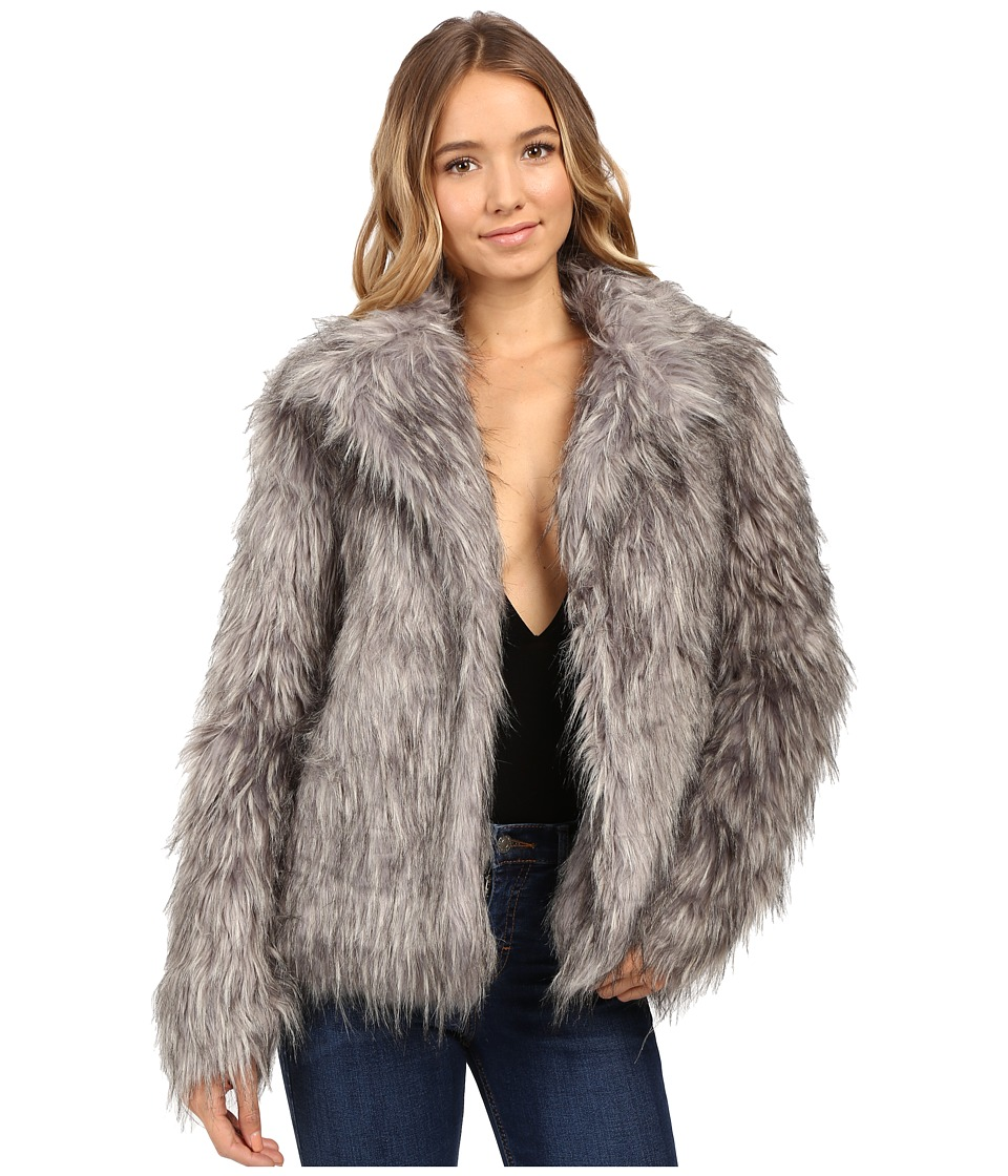 Show Me Your Mumu - Park Avenue Jacket (Silver Fox Faux) Women's Coat