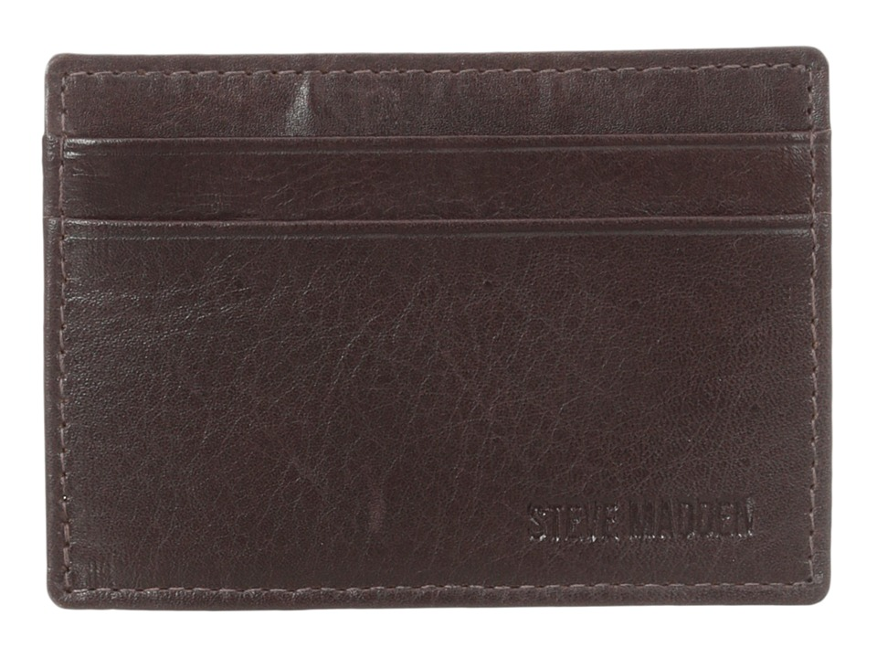 Steve Madden - Mealu Leather Card Carrier (Brown) Credit card Wallet