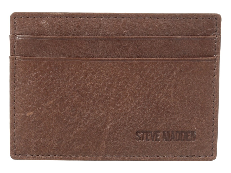 Steve Madden - Mealu Leather Card Carrier (Cognac) Credit card Wallet