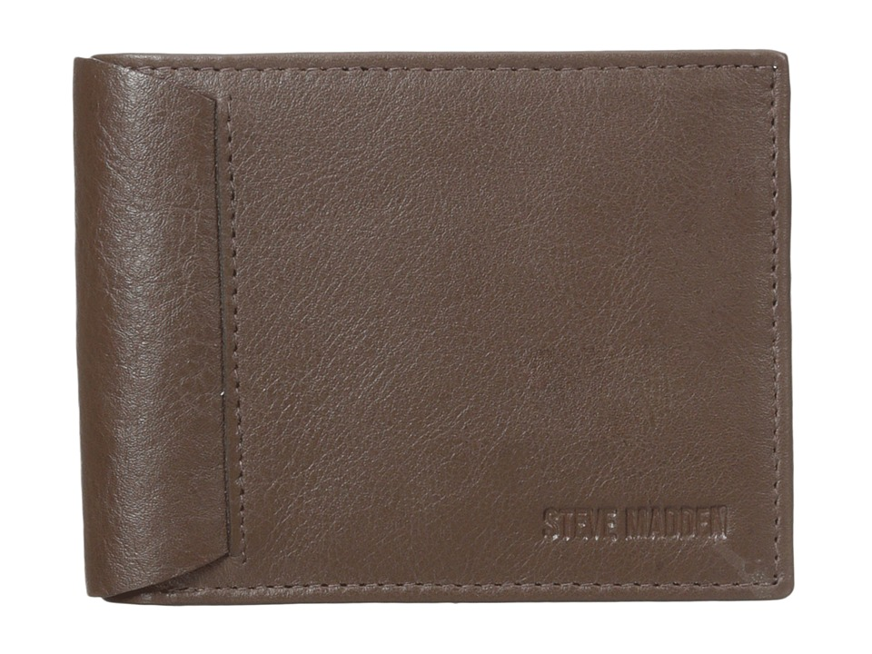Steve Madden - Mocha Leather Passcase Wallet (Brown) Credit card Wallet