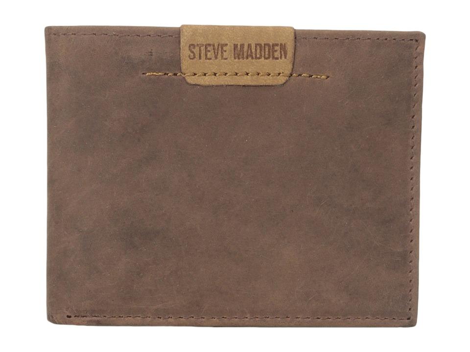 Steve Madden - Dakota Leather Passcase Wallet (Brown) Credit card Wallet