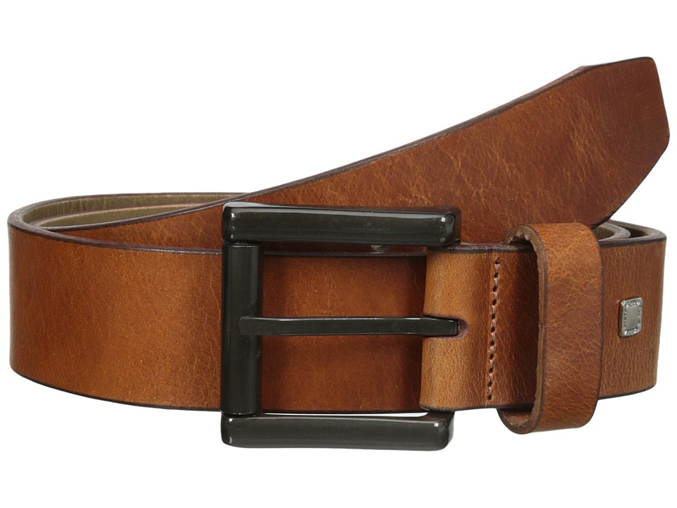 Steve Madden - 40mm Bridle Leather Belt (Cognac) Men's Belts