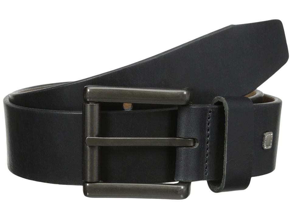 Steve Madden - 40mm Bridle Leather Belt (Black) Men's Belts