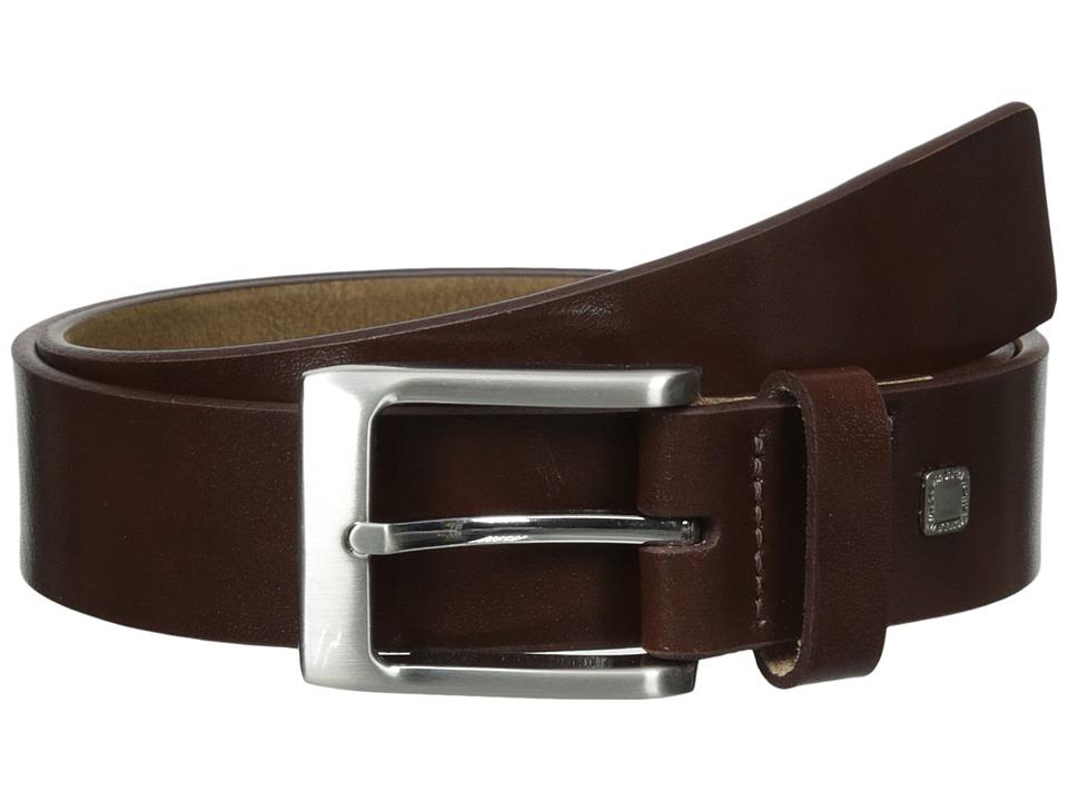 Steve Madden - 35mm Burnished Leather Belt (Brown) Men's Belts