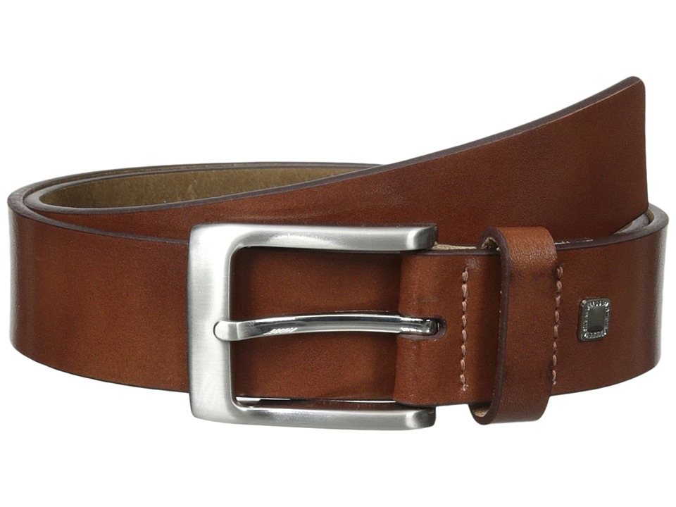 Steve Madden - 35mm Burnished Leather Belt (Cognac) Men's Belts