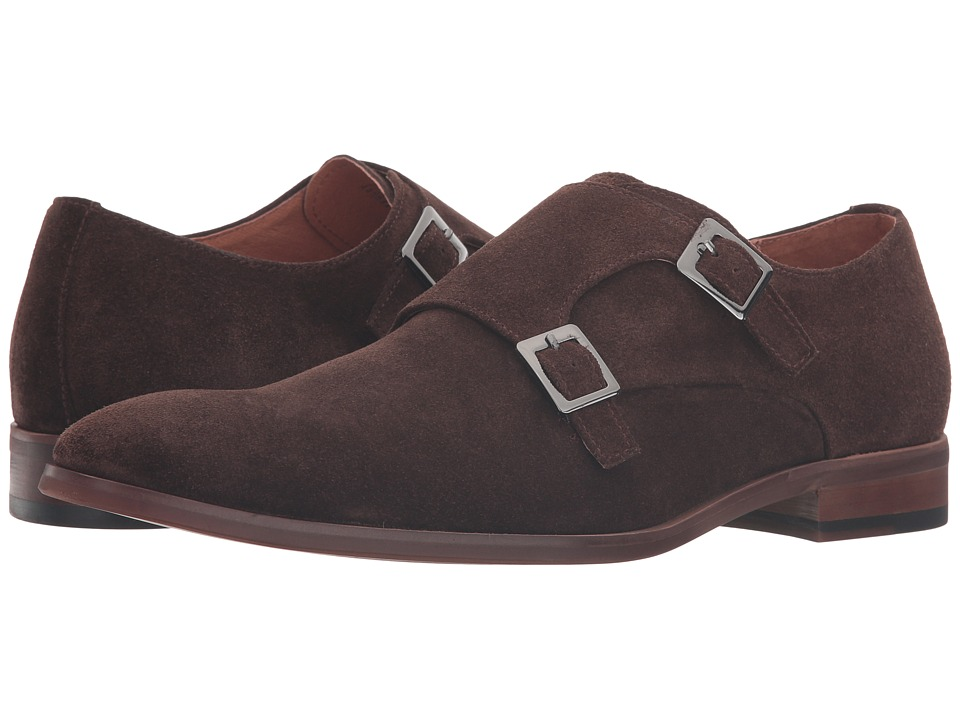 Dune London - Rhode Island (Brown Suede) Men's Monkstrap Shoes