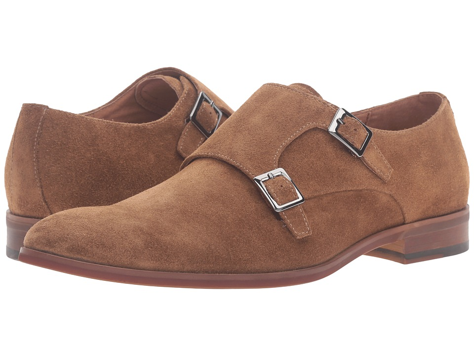 Dune London - Rhode Island (Tan Suede) Men's Monkstrap Shoes