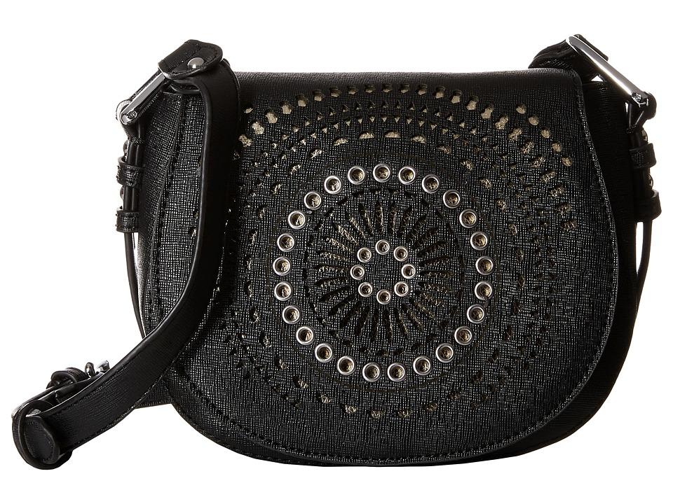 Chinese Laundry - AnnaBelle Perforated Adjustable Crossbody (Black) Cross Body Handbags