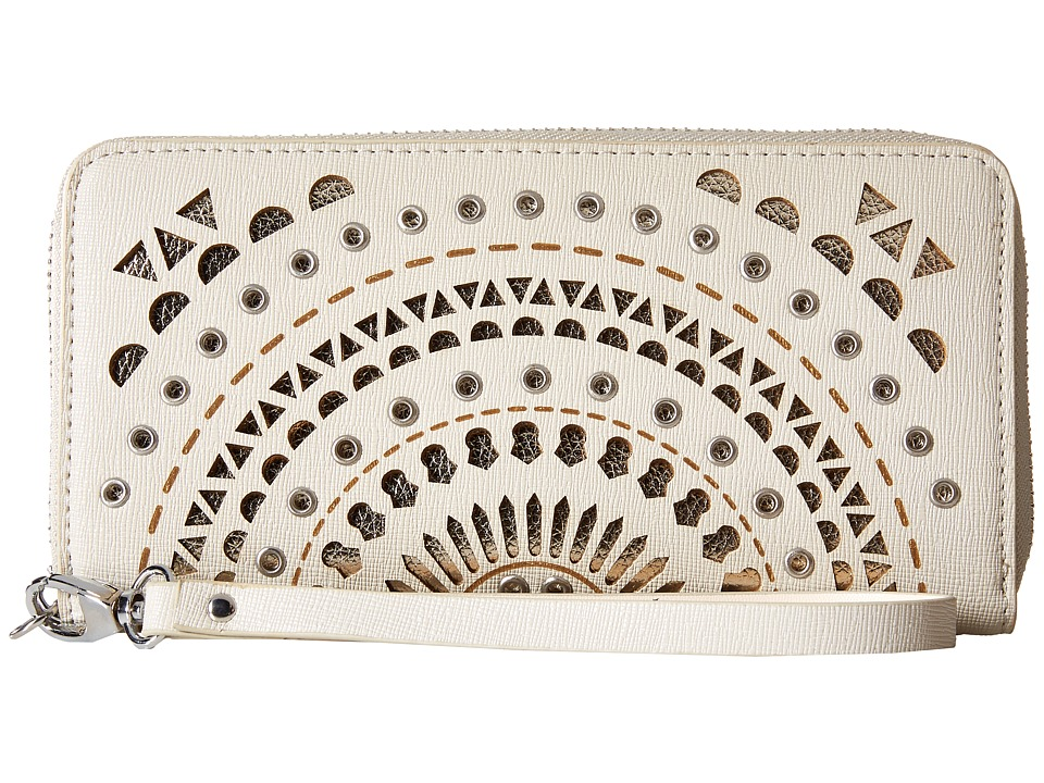 Chinese Laundry - AnnaBelle Perforated Wallet (Grey) Wallet Handbags