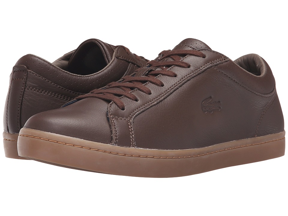 Lacoste - Straightset 3 (Dark Brown) Men's Shoes