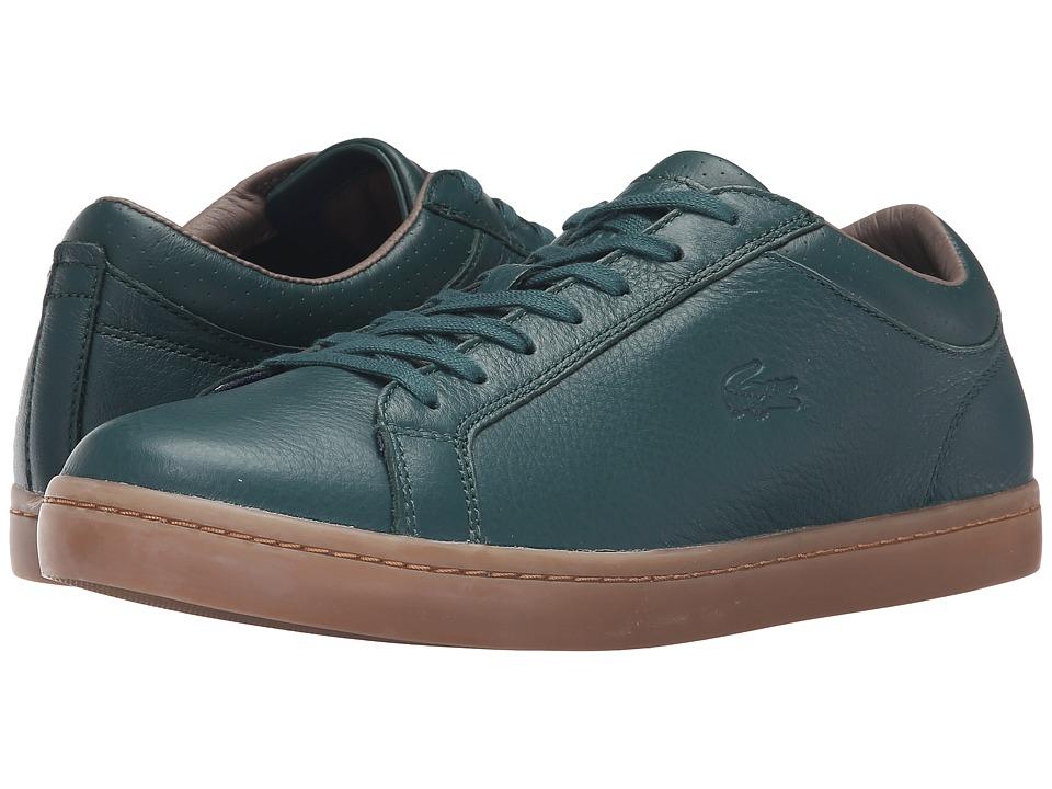 Lacoste - Straightset 3 (Dark Green) Men's Shoes