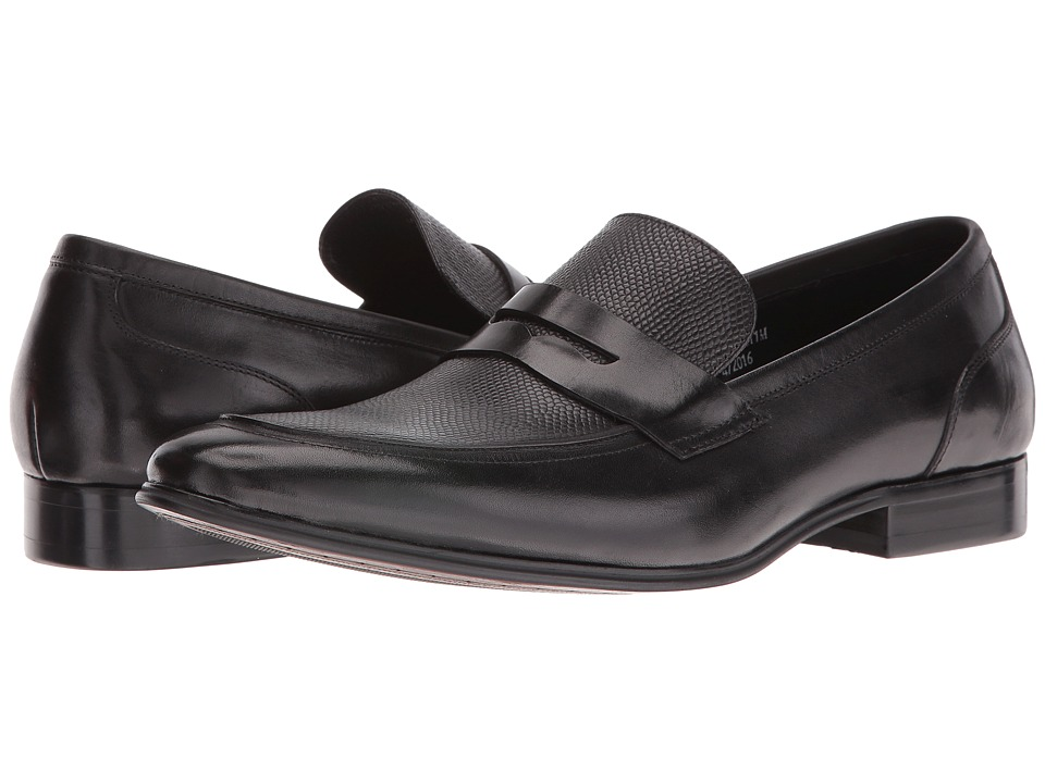 Dune London - Regner (Black Leather) Men's Shoes